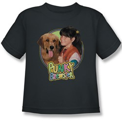 Punky Brewster - Punky & Brandon Juvee T-Shirt In Charcoal