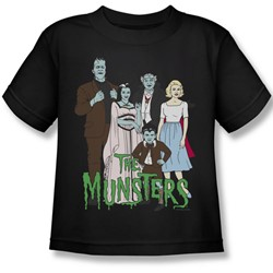 The Munsters - The Family Juvee T-Shirt In Black