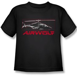 Airwolf - Airwolf Grid Juvee T-Shirt In Black