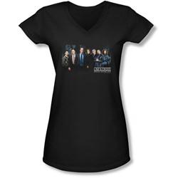 Law & Order: Special Victim's Unit - Juniors Cast  V-Neck T-Shirt