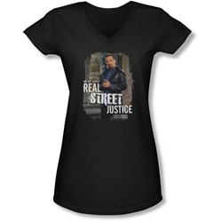 Law & Order: Special Victim's Unit - Juniors Street Justice V-Neck T-Shirt