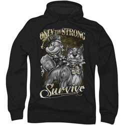 Popeye - Mens Only The Strong Hoodie