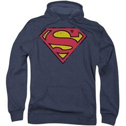 Superman - Mens Distressed Shield Hoodie