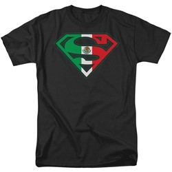 Superman - Mens Mexican Flag Shield T-Shirt