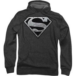 Superman - Mens Super Metallic Shield Hoodie