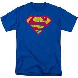 Superman - Mens Classic Logo Distressed T-Shirt