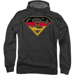 Superman - Mens German Shield Hoodie