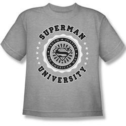 Superman - Superman University Big Boys T-Shirt In Heather