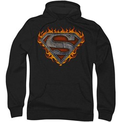 Superman - Mens Iron Fire Shield Hoodie