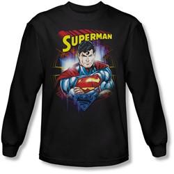 Superman - Mens Glam Longsleeve T-Shirt