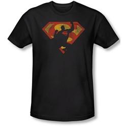 Superman - Mens S Shield Knockout Slim Fit T-Shirt