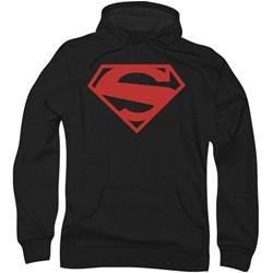 Superman - Mens 52 Red Block Hoodie