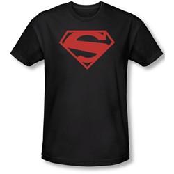 Superman - Mens 52 Red Block Slim Fit T-Shirt