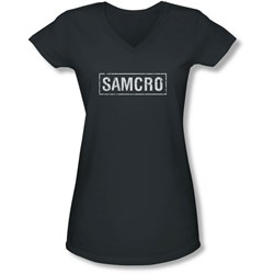 Sons Of Anarchy - Juniors Samcro V-Neck T-Shirt