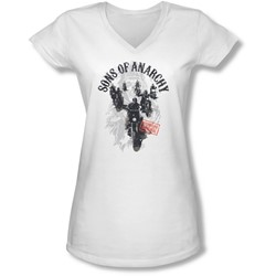 Sons Of Anarchy - Juniors Reapers Ride V-Neck T-Shirt