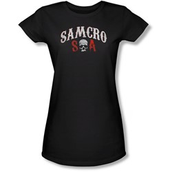 Sons Of Anarchy - Juniors Samcro Forever Sheer T-Shirt