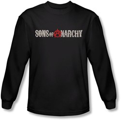 Sons Of Anarchy - Mens Beat Up Logo Longsleeve T-Shirt