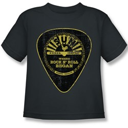 Sun Records - Guitar Pick Little Boys T-Shirt In Charcoal