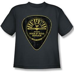 Sun Records - Guitar Pick Big Boys T-Shirt In Charcoal