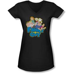 Family Guy - Juniors Family Fight V-Neck T-Shirt