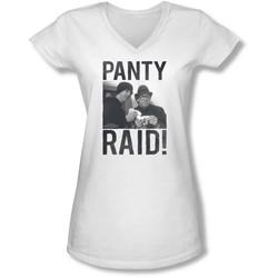 Revenge Of The Nerds - Juniors Panty Raid V-Neck T-Shirt