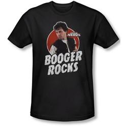 Revenge Of The Nerds - Mens Booger Rocks Slim Fit T-Shirt