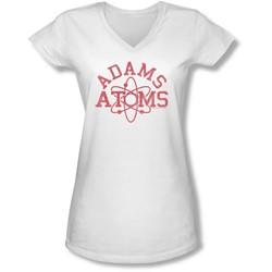 Revenge Of The Nerds - Juniors Adams Atoms V-Neck T-Shirt