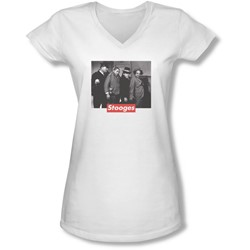 Three Stooges - Juniors Supreme Rip V-Neck T-Shirt