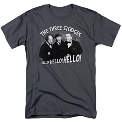 Three Stooges - Mens Hello Again T-Shirt