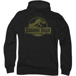 Jurassic Park - Mens Distressed Logo Hoodie