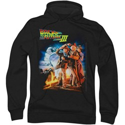 Back To The Future Iii - Mens Poster Hoodie