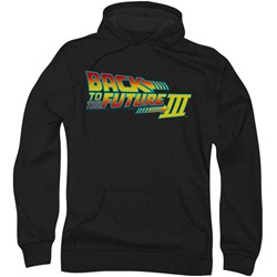 Back To The Future Iii - Mens Logo Hoodie