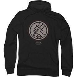 Hellboy Ii - Mens Mignola Style Logo Hoodie