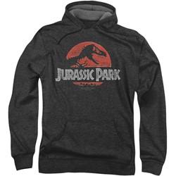 Jurassic Park - Mens Faded Logo Hoodie