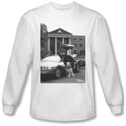 Back To The Future Ii - Mens Einstein Longsleeve T-Shirt