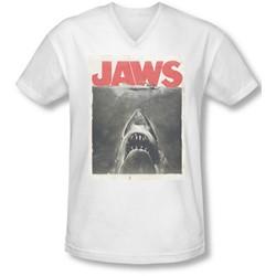 Jaws - Mens Classic Fear V-Neck T-Shirt