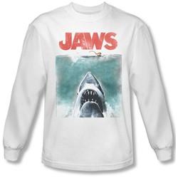 Jaws - Mens Vintage Poster Longsleeve T-Shirt