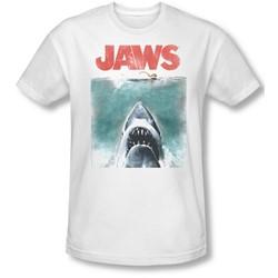 Jaws - Mens Vintage Poster Slim Fit T-Shirt