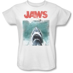 Jaws - Womens Vintage Poster T-Shirt