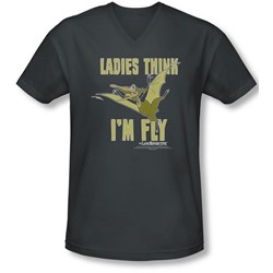 Land Before Time - Mens I'M Fly V-Neck T-Shirt