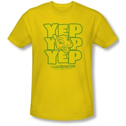 Land Before Time - Mens Yep Yep Yep Slim Fit T-Shirt