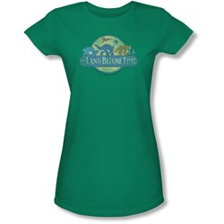 Land Before Time - Juniors Retro Logo Sheer T-Shirt
