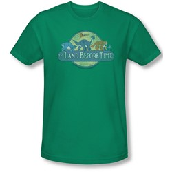 Land Before Time - Mens Retro Logo Slim Fit T-Shirt
