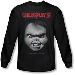 Childs Play 3 - Mens Face Poster Longsleeve T-Shirt