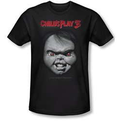 Childs Play 3 - Mens Face Poster Slim Fit T-Shirt