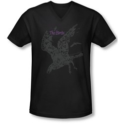 Birds, The - Mens Poster V-Neck T-Shirt