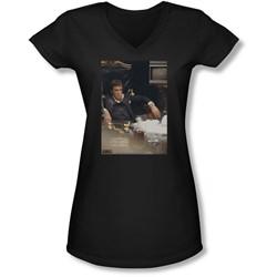 Scarface - Juniors Sit Back V-Neck T-Shirt