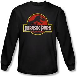 Jurassic Park - Mens Classic Logo Longsleeve T-Shirt