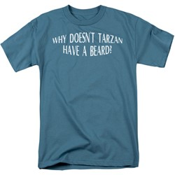Funny Tees - Mens Tarzan Have A Beard T-Shirt