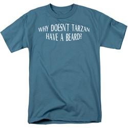 Funny Tees - Mens Tarzan Have A Beard T-Shirt